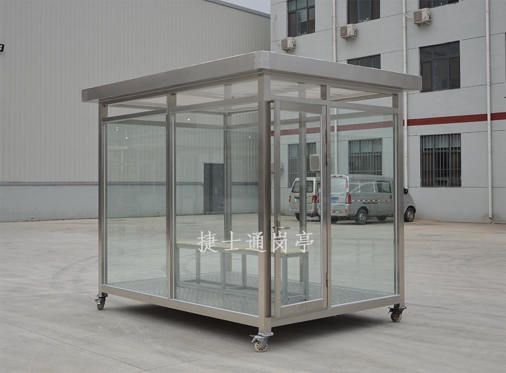 工厂玻璃吸烟亭