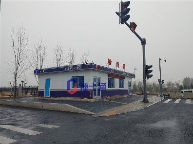 北京大型机场警务室检查站